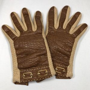 Novakid by Aris Vintage Gloves with Buckle Accent